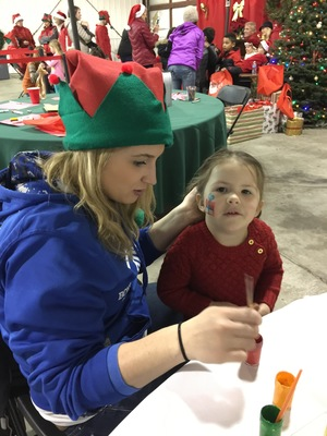 Slider santa fly in 2016 face painting