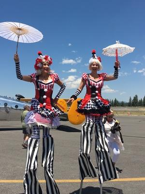 Slider airshow stilt ladies
