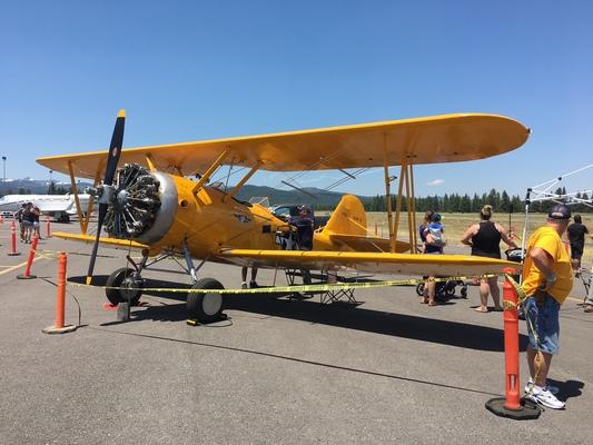 Slider airshow biplane
