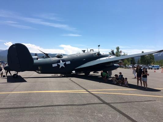 Slider airshow wwii bomber