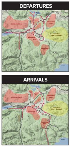 Large dep arr maps