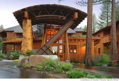 Main cedar house